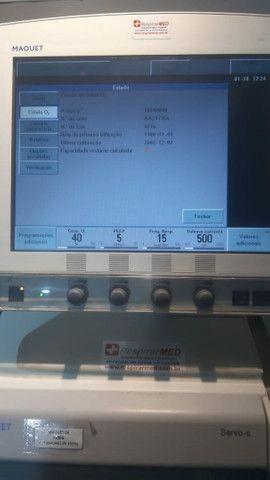 Ventilador Pulmonar Servo Revisado com NF e garantia - Foto 4