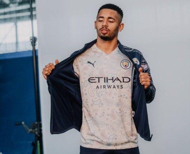 Camisa De Futebol Manchester City III 2020 / 2021 - Foto 5