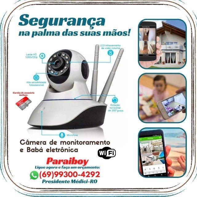 Câmeras wifi 3 antenas lançamento Ipega com cartão de memoria