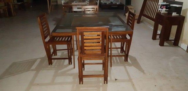 Vendo Mesa com 4 Cadeiras - Frete Grátis  - Foto 2