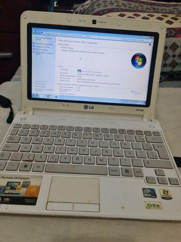 Netbook LG X140 tela de 10 pol. (BATERIA E TECLADO RUIM)