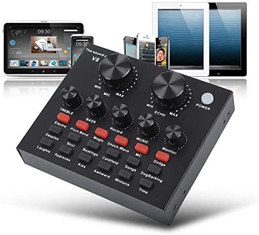 V8 Soundcard / Audio Interface singing live sound card - Foto 5
