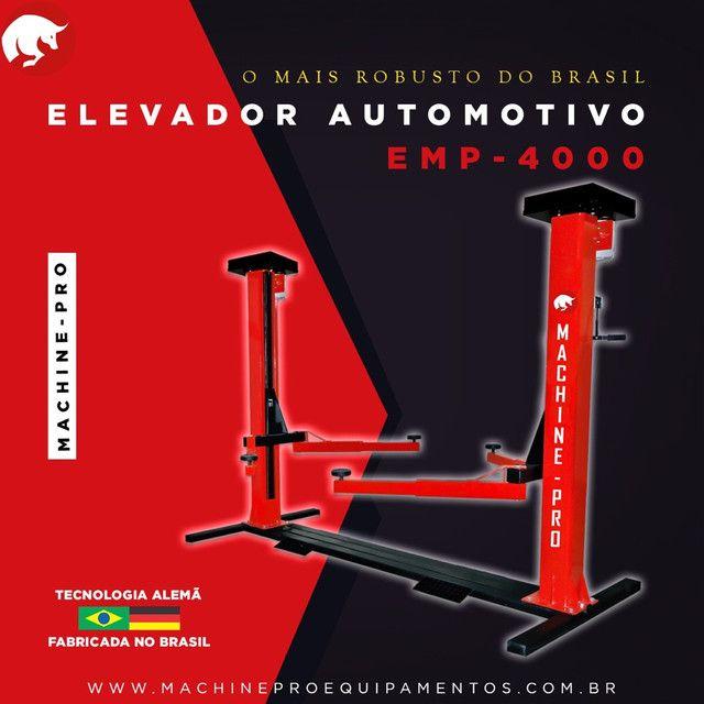 Elevador Automotivo Machine-Pro 4000 kg   Equipamento Novo   Trifásico - Foto 3
