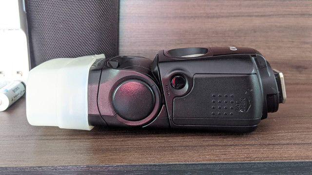 Flash EX 320 Canon com pilhas Sony recarregável  - Foto 3