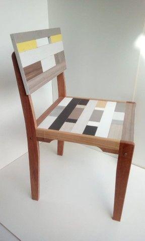 Vendo Cadeira - Mosaico - Frete Grátis - Foto 2