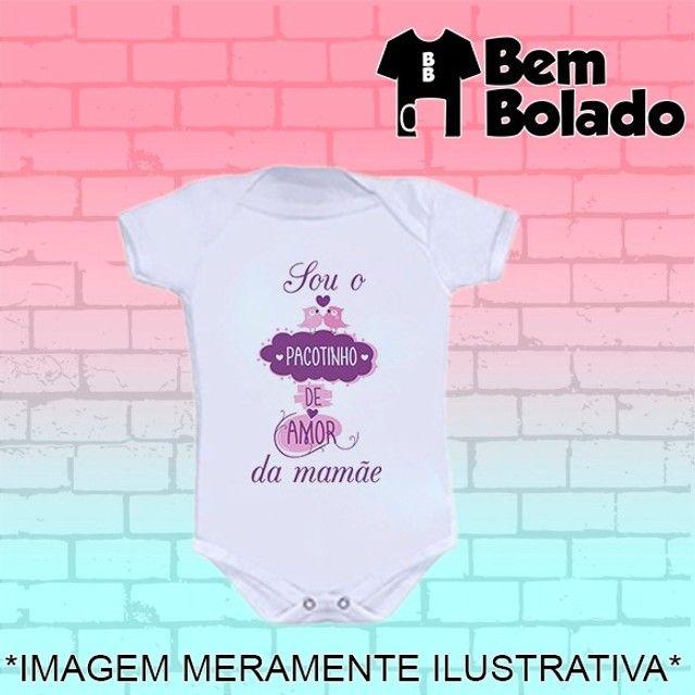 Body Sou o pacotinho de amor da mamãe Dia das mães - Foto 5