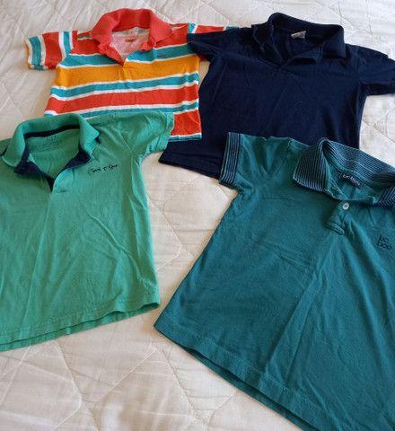 Camisas Polo Menino - Tamanho 4 - Foto 6
