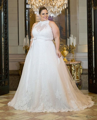 Vestido de Noiva Plus Size.