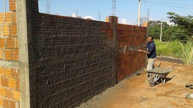 Precisa chapiscar e rebocar suas paredes ? Aqui você encontra o melhor preço - Foto 3