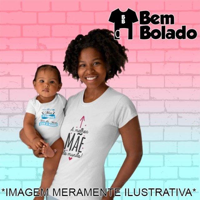 Conjunto Primeiro Dia das Mães body + camiseta - Foto 2