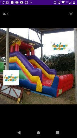 Tobogã inflável escorregador grande - Foto 2
