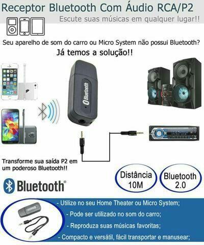 Receptor De Audio Bluetooth Adaptador Musica P2