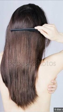 Escovo e pinto cabelo