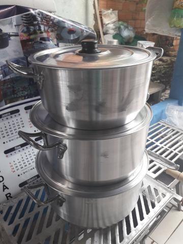 Jogo de panelas alumínio 6 8 10 litros
