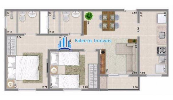 Apartamento 2 dormitórios com sacada - Minha Casa Minha Vida - Apartamento em La... - Foto 20