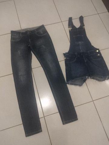 Calça e jardineira jeans - Foto 3