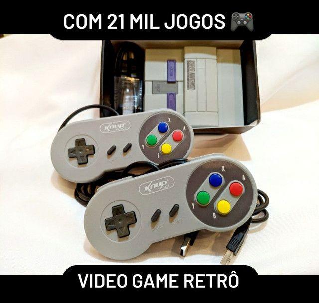 Video game Retrô 2 controles sem fio 33 mil jogos