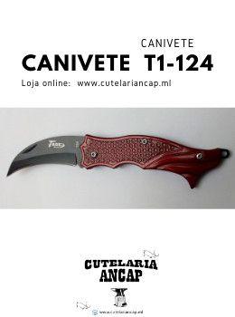 Canivete T1-124 ideal para Caça, Pesca e atividade de Camping