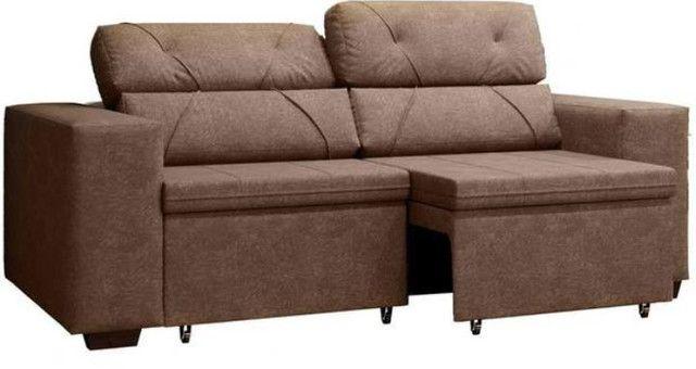 Sofá retrátil e reclinável phormatta - Foto 2