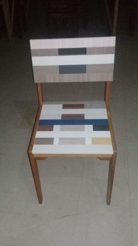 Vendo Cadeira - Mosaico - Frete Grátis - Foto 4