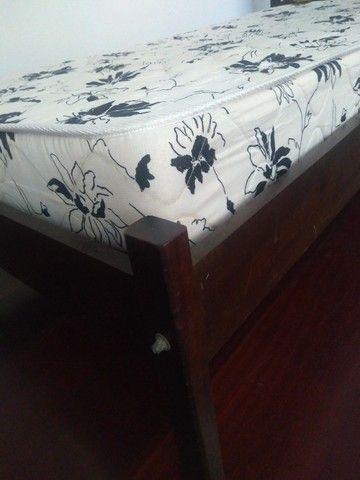 Cama solteiro madeira maciça (canela) - Foto 3
