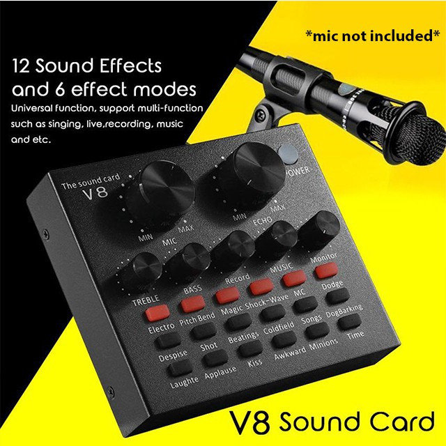 V8 Soundcard / Audio Interface singing live sound card - Foto 2