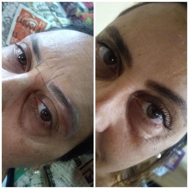 Limpeza de pele, extensão de cílios, design de sobrancelhas