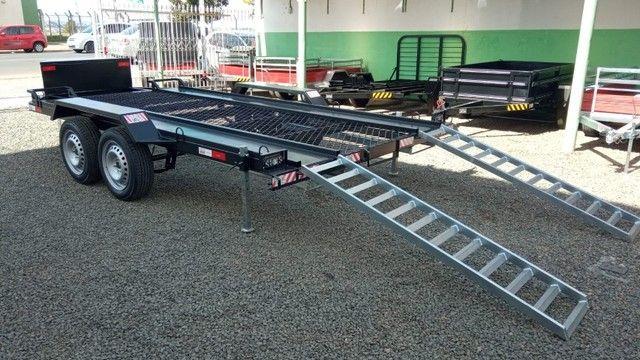 Carreta UTV/Quadriciclo/Veic leves 4,00 x 1,85m - Reboque Zero KM - / Polaris / Fourtrax