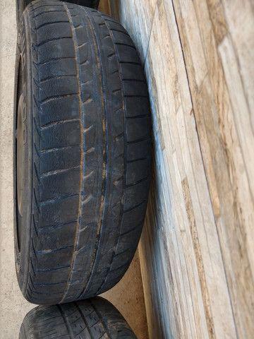 Jogo de rodas 14 de ferro semi novas originais do fiat pálio - Foto 7