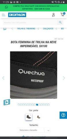 Bota impermeável Quechua Decathlon - Foto 6