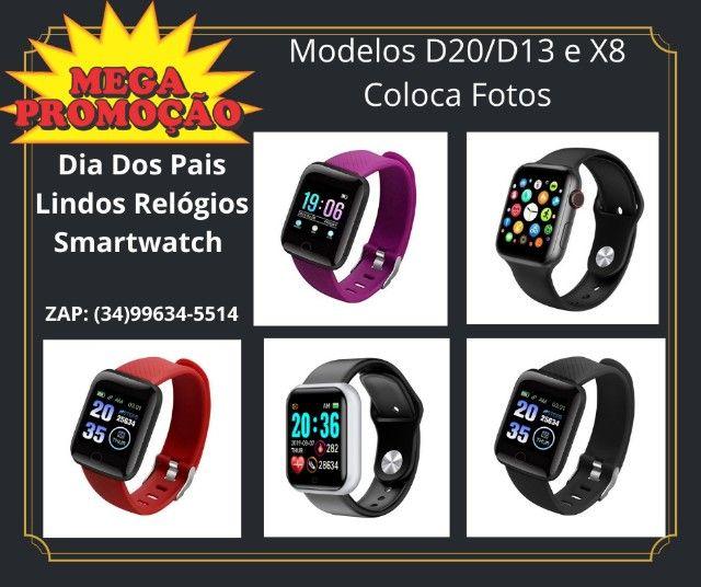 Promoção Dia Dos Pais Lindos Relógios Digitais Smartwatch Coloca Fotos