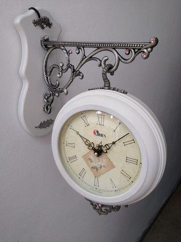 Relógio de estação dupla face - Foto 3