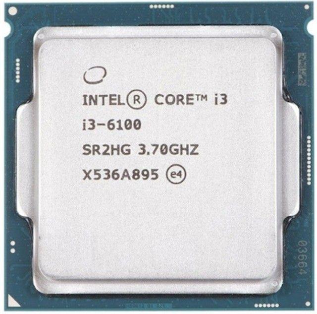 Processador Intel Core i3-6100  3.7 GHz com Cooler Original