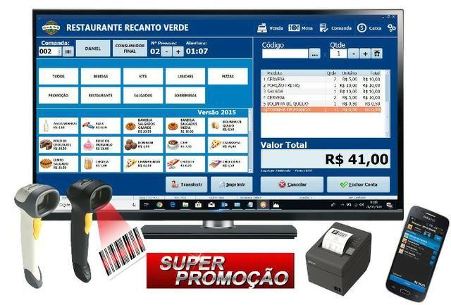 Sistema Touch Screen Para Bares, Restaurantes, Lanchonete, Pizzarias