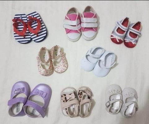 Lote de sapatinhos e sandália para Menina (8 pares)