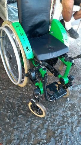 Cadeira de rodas alumínio ortomix infantil - Foto 2