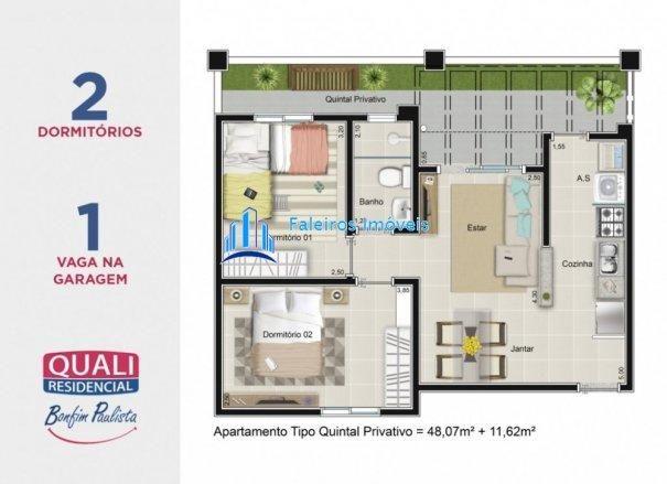 Apartamento 2 dormitórios com sacada e lazer completo MCMV - Apartamento em Lanç... - Foto 13
