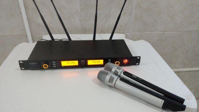 Microfone sem fio duplo profissional NOVO - Foto 4