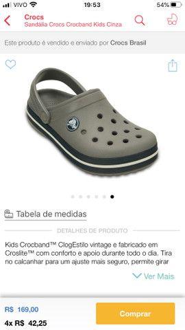 Crocs infantil tamanho 23 Campo Grande Ms - Foto 3