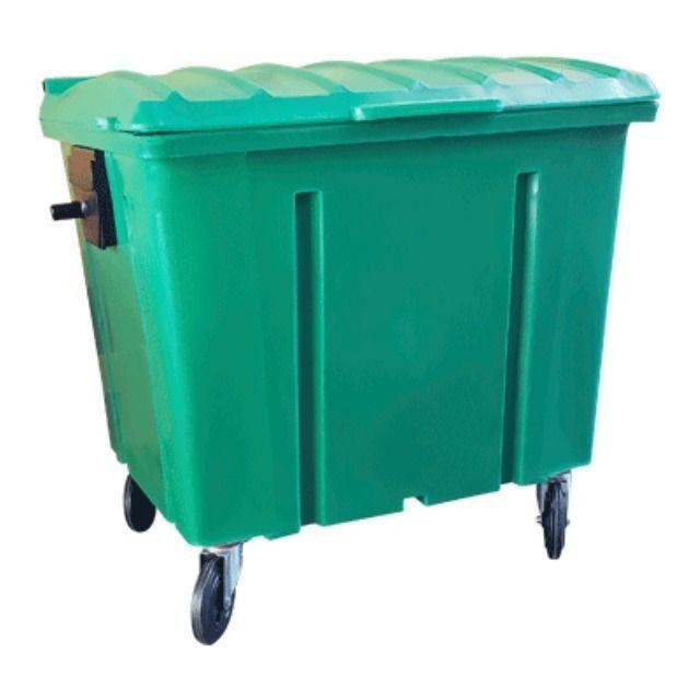 Container de Lixo 500 Litros com Rodas sem Pedal - Novo - Foto 2