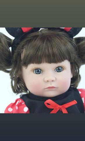 Boneca bebê Reborn Menina toda de Silicone a pronta entrega - Foto 4