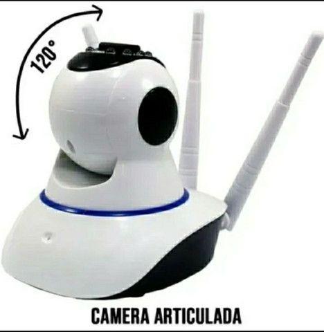 Camera Ip Segurança Residencial Comercial Ultra Hd 3 Antenas Sem Fio