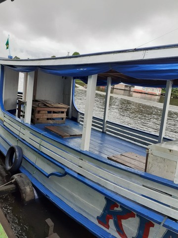 Barco de madeira 12 metros máquina 125 hp Mercedes  - Foto 4