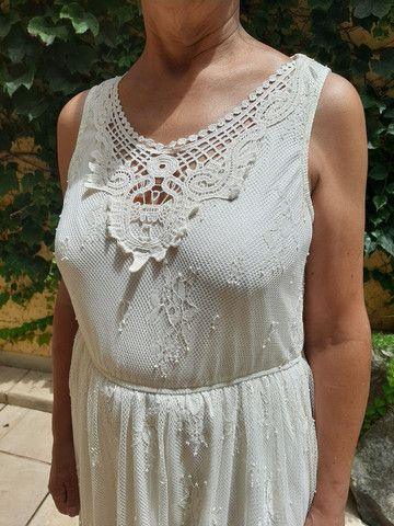Vestido marfim de renda  - Foto 2
