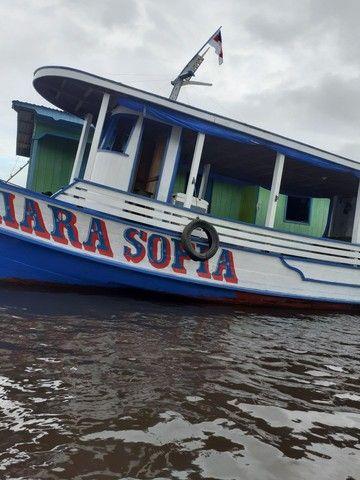 Barco de madeira 12 metros máquina 125 hp Mercedes  - Foto 2