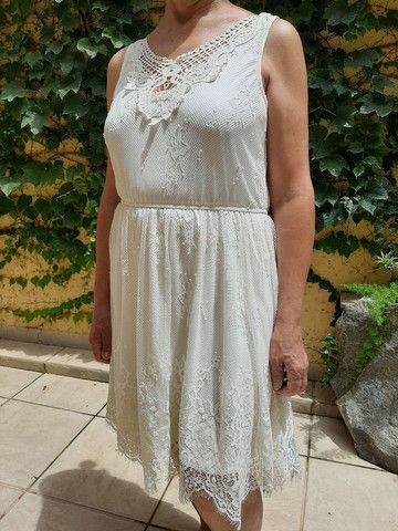 Vestido marfim de renda  - Foto 3
