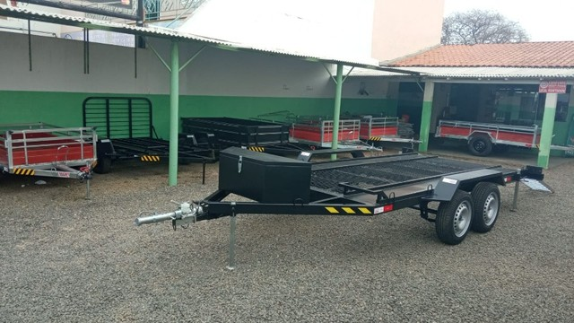 Carreta UTV/Quadriciclo/Veic leves 4,00 x 1,85m - Reboque Zero KM - / Polaris / Fourtrax  - Foto 11