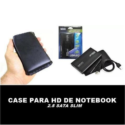 Case pra HD notebook 2.5 Sata Slim