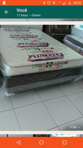 Cama box casal colchão+base de cama box