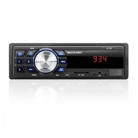 Som Automotivo Multilaser One MP3 Entradas Usb Sd e Auxiliar P2 - P3213